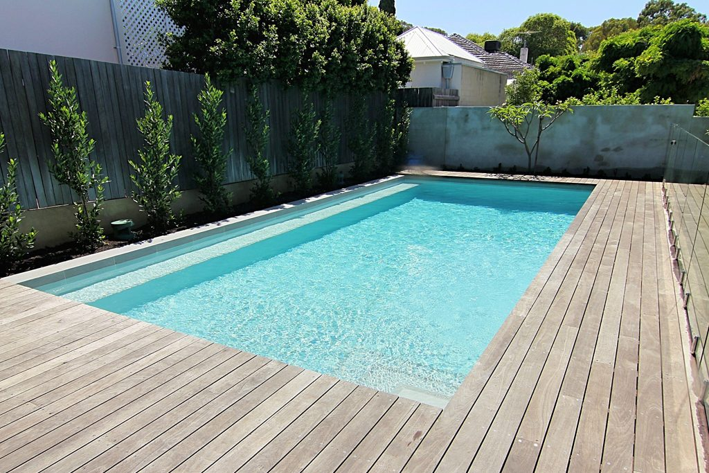 infinity pool beach house. Waterline Of The Pool, White Quartz Plaster By Rainbow Quartz And  Distressed Timber Decking To Pool Surround Give A Beach House Feel. Infinity